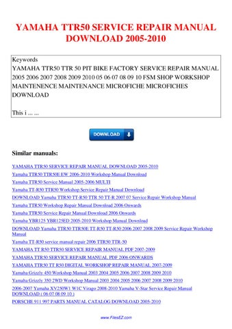 2009 yamaha yz250f y service repair manual download 09