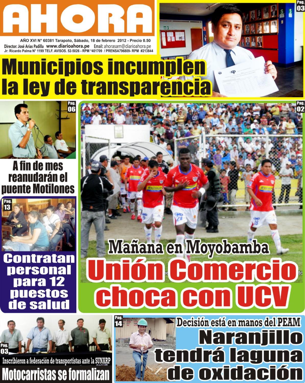 Diario Ahora Tarapoto by Jonatan Arias - issuu