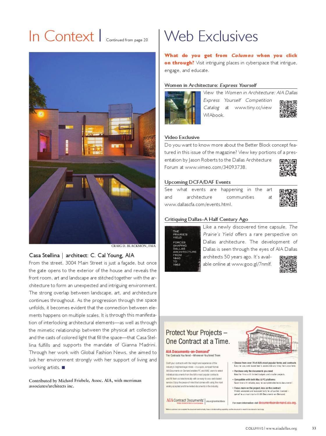 Spring 2012 issue – AIA Dallas 'Columns' magazine by AIA