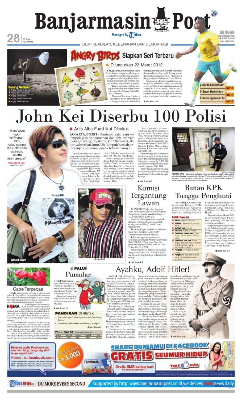 Banjarmasin Post Edisi Minggu 20 Juni 2010 By Tcash Vaganza 37 Kran Tembok Kuningan Tr 5j F 19 Februari 2012
