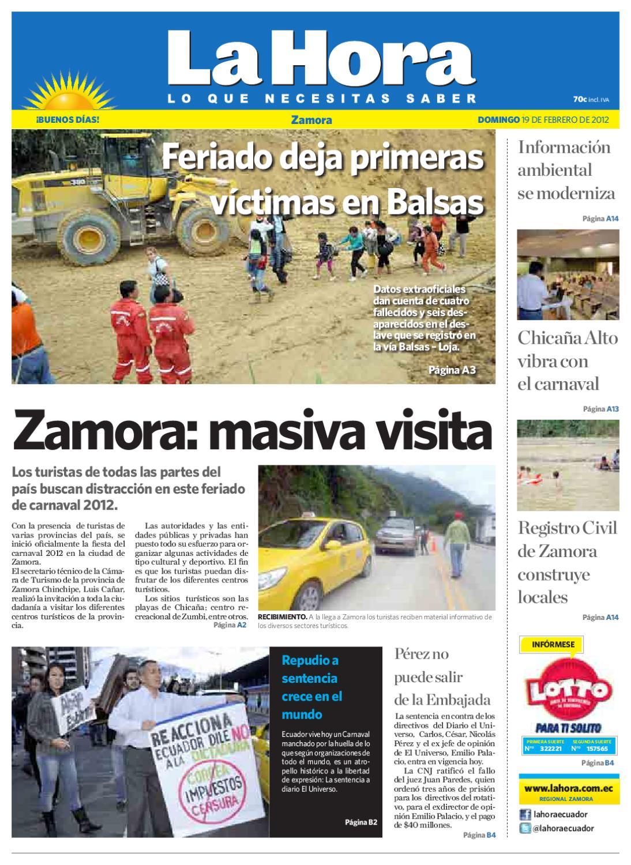 Diario La Hora Zamora 19 de Febrero 2012 by Diario La Hora Ecuador - issuu 623f32a9ad8