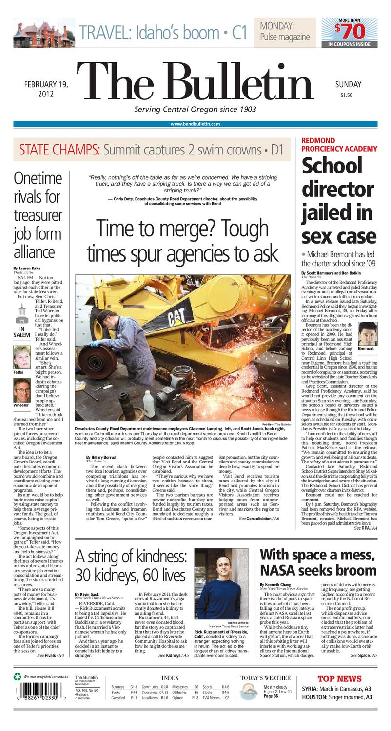 Bulletin Daily Paper 02/19/12 by Western Communications, Inc
