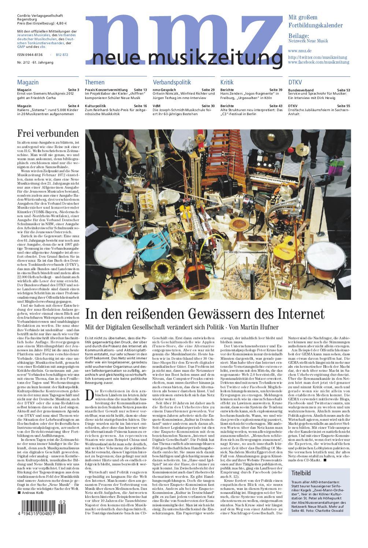 neue musikzeitung 201202 by ConBrio Verlag issuu