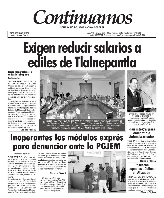 Semanario Continuamos Ed 237 By Héctor Moreno Issuu