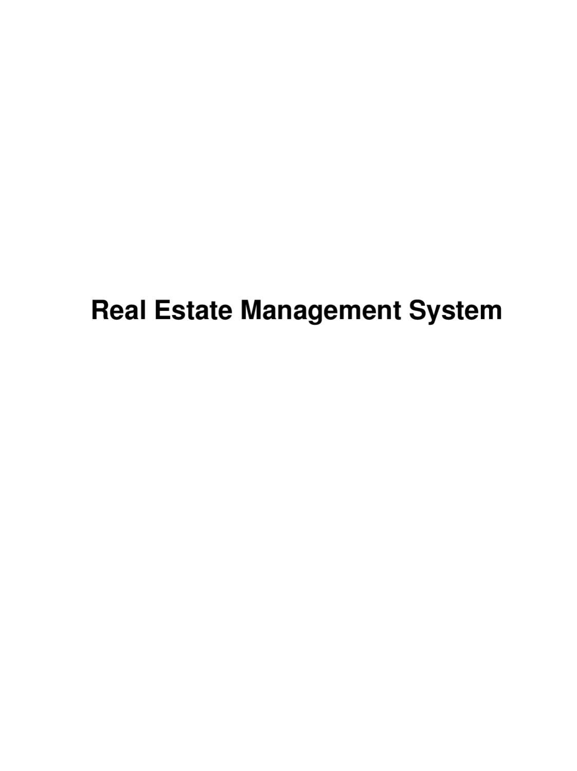 Real Estate Management System By Readymade Projects