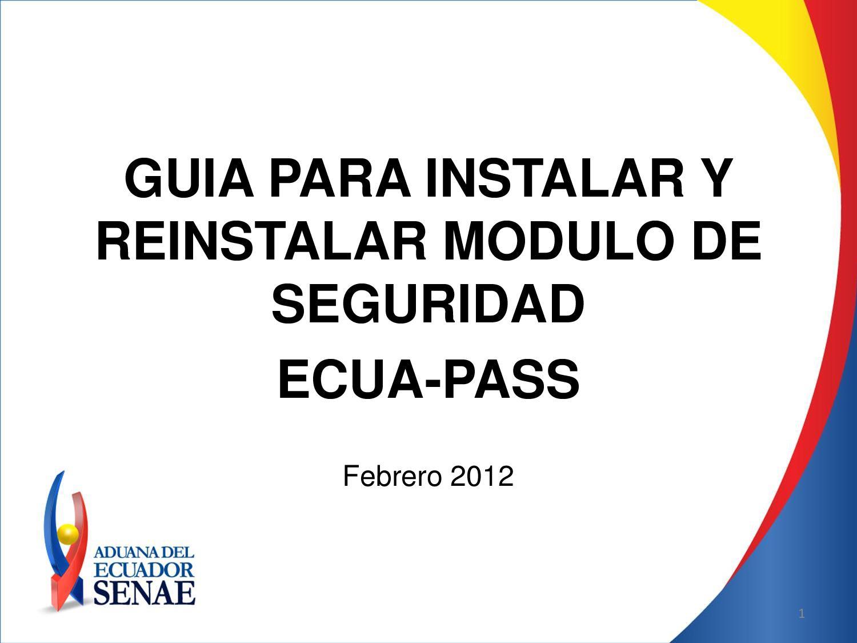 Guia Para La Instalación Del Sistema Aduanero Ecuapass By