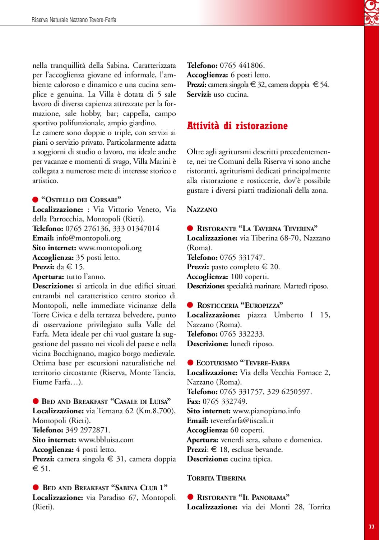 Guida Riserva Naturale Regionale Nazzano Tevere Farfa By