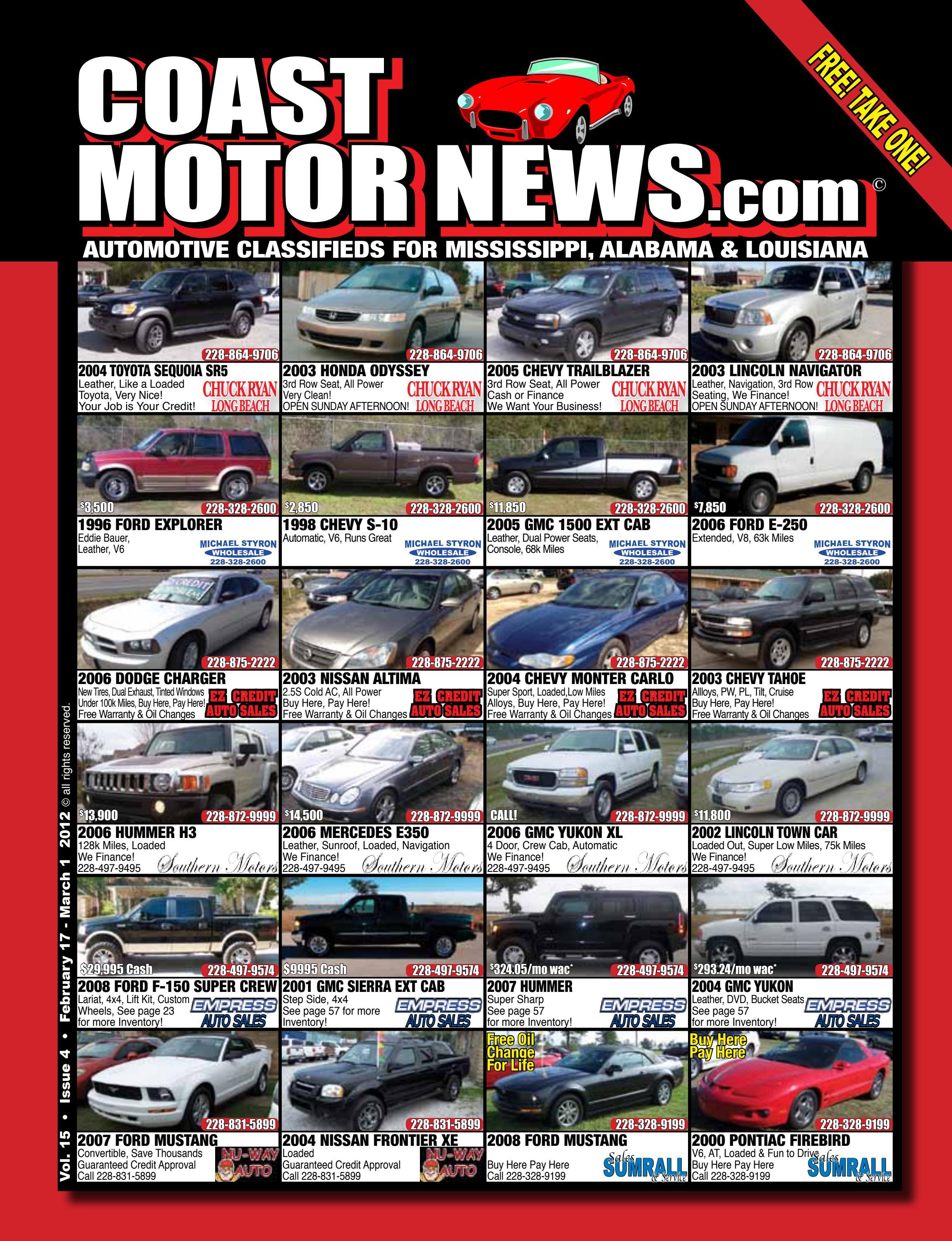 Guaranteed Auto Sales >> Cmn Vol 15 4 By Coast Motor News Issuu