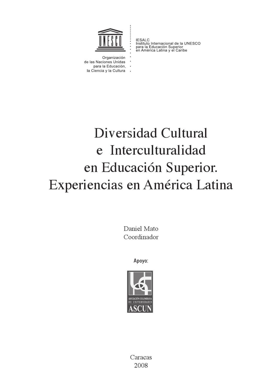 Diversidad cultural e interculturalidad en educacion superior Daniel ...