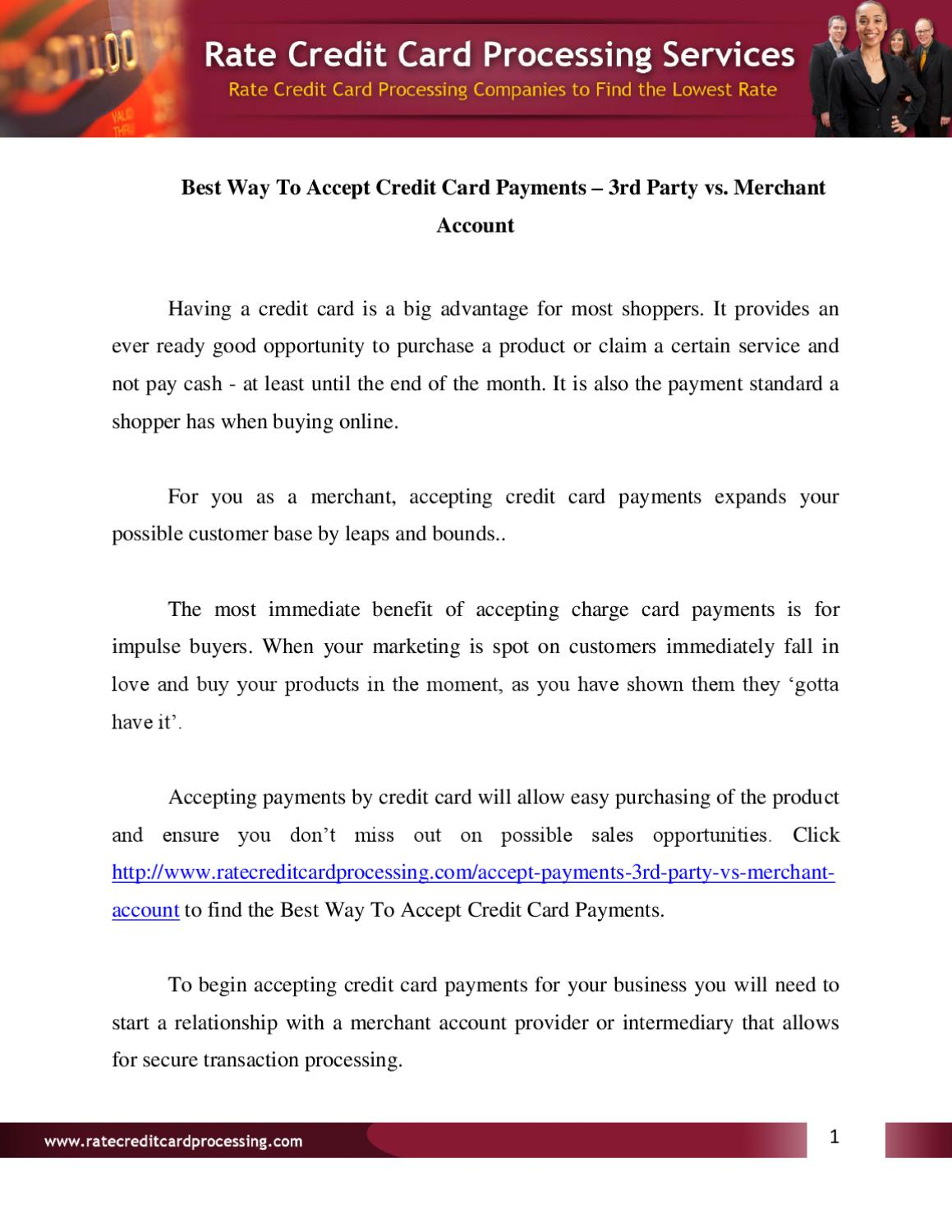 Best way to accept credit card payments by tanya tomas issuu reheart Image collections