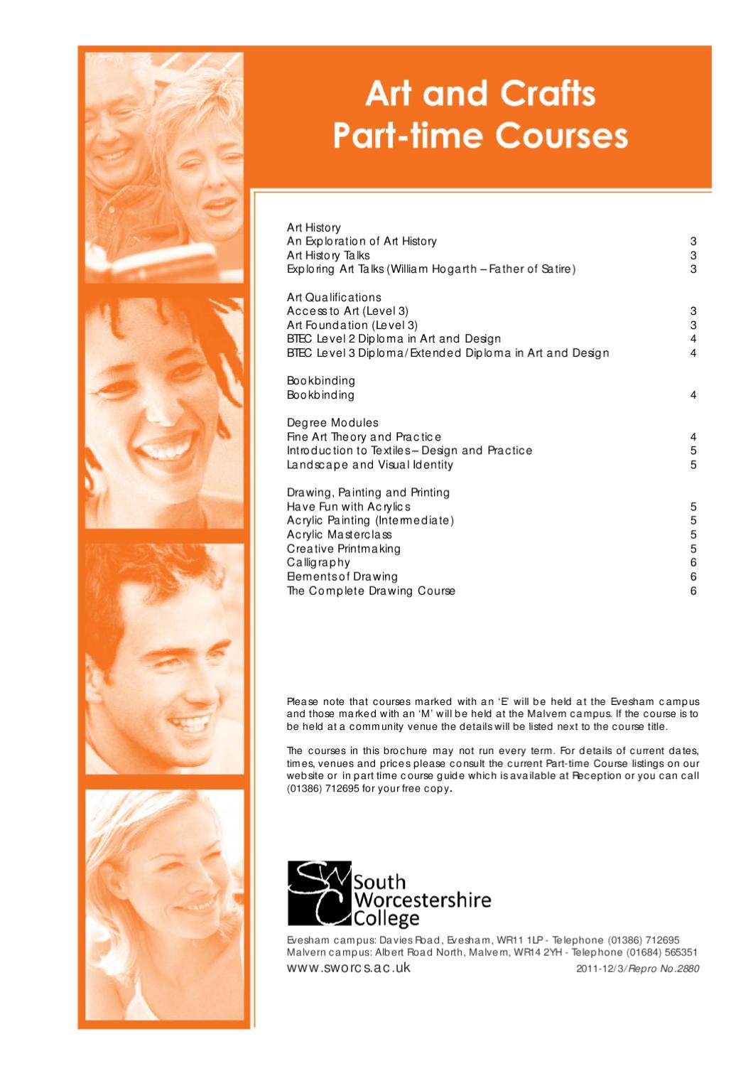 Art And Design Courses By South Worcestershire College Issuu