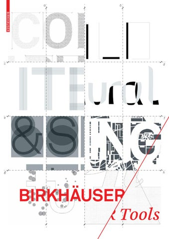 Birkhauser Tools 2011 / 2012 By Birkhäuser   Issuu