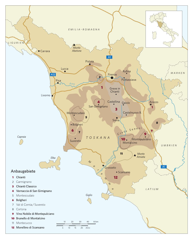Karte Weinbau Toskana By Weinwelten Issuu