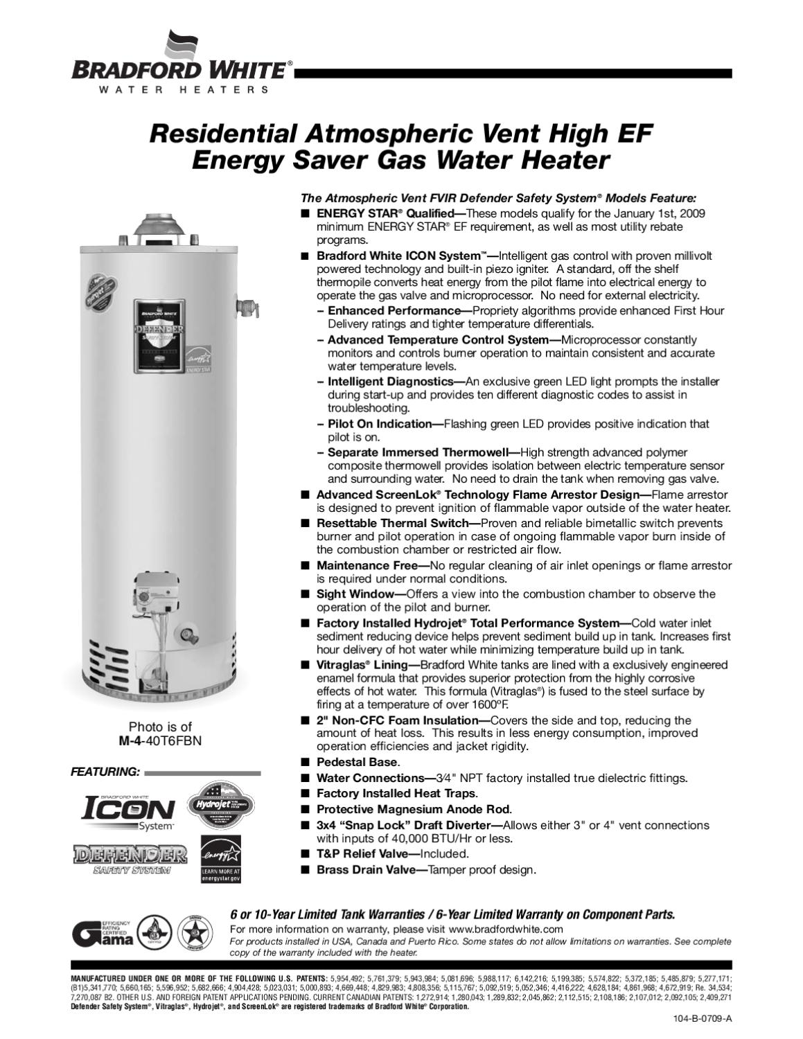 Residential Atmospheric Vent Gas Water Heaters By Mckinney