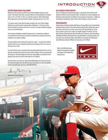 3b93e1b94f8 2012 OU Baseball Media Guide by OU Athletics - issuu