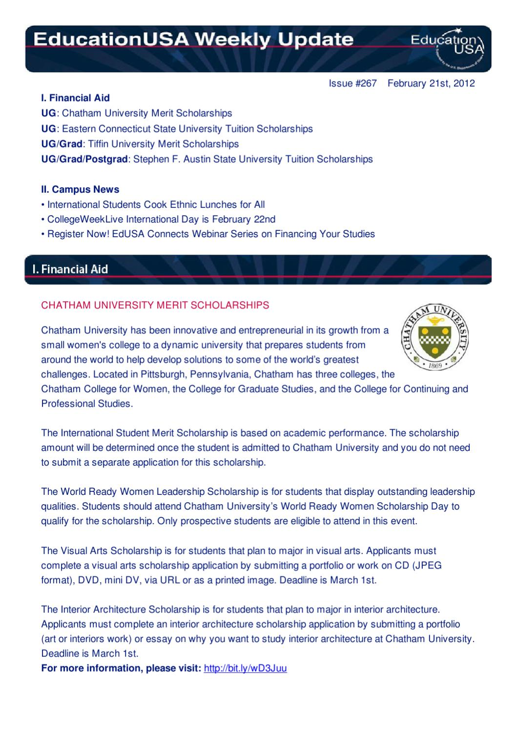 EducationUSA Weekly Update - Feb  21, 2012 by Fulbright