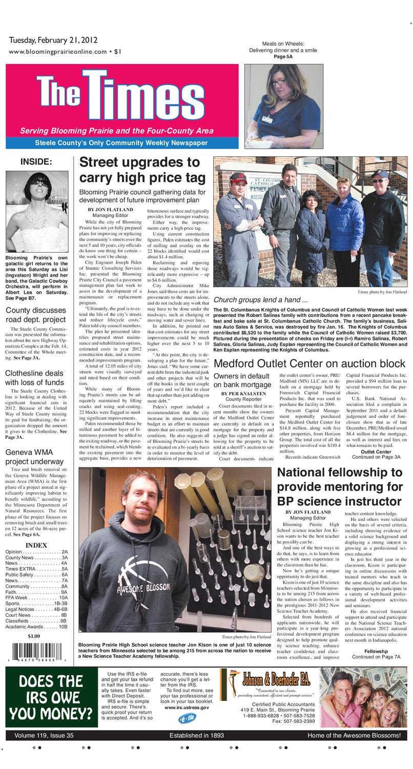 The Times Newspaper Blooming Prairie MN By The Times Issuu
