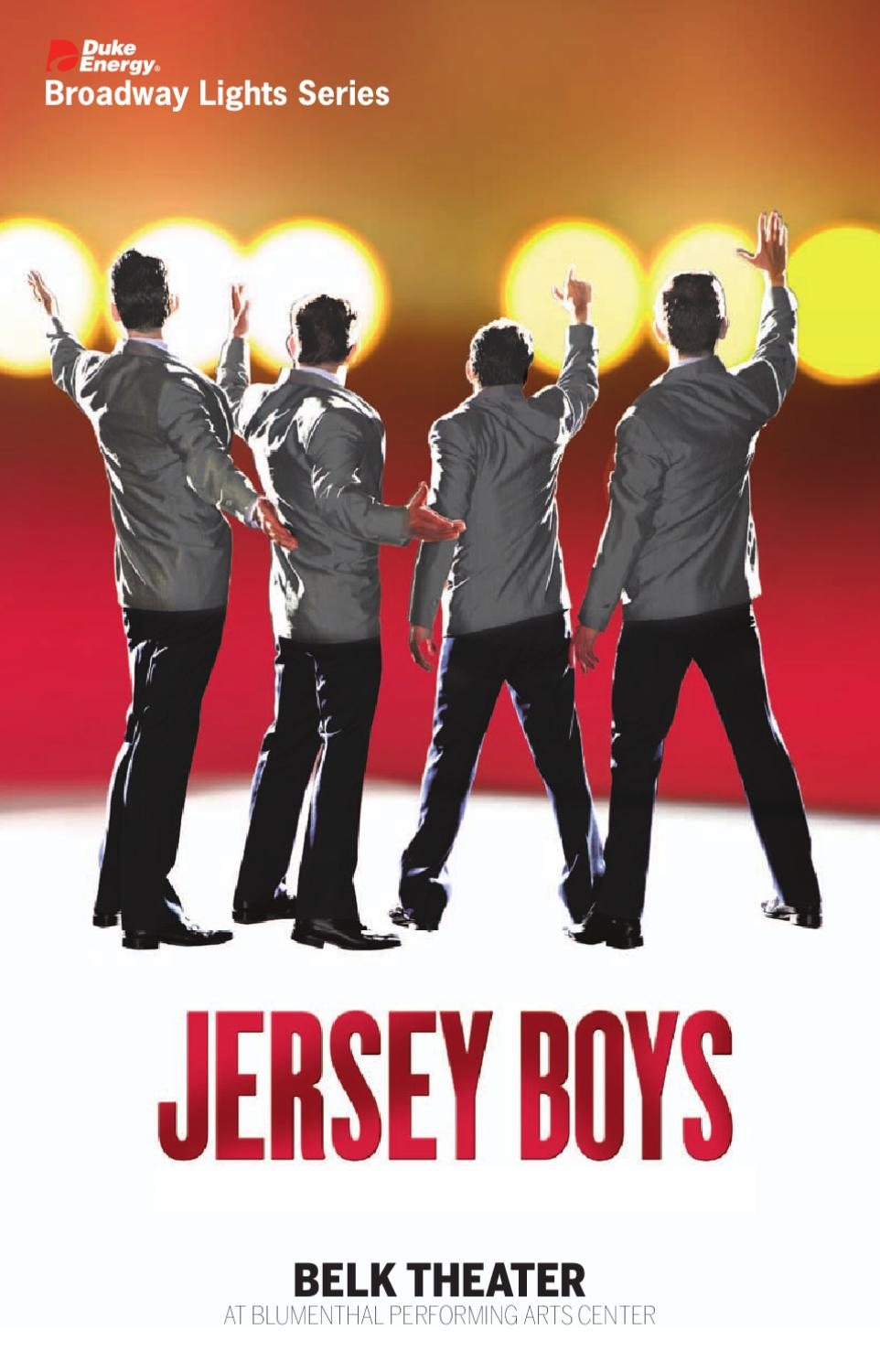 2011 12 Jersey Boys Playbill By Blumenthal Performing Arts Issuu