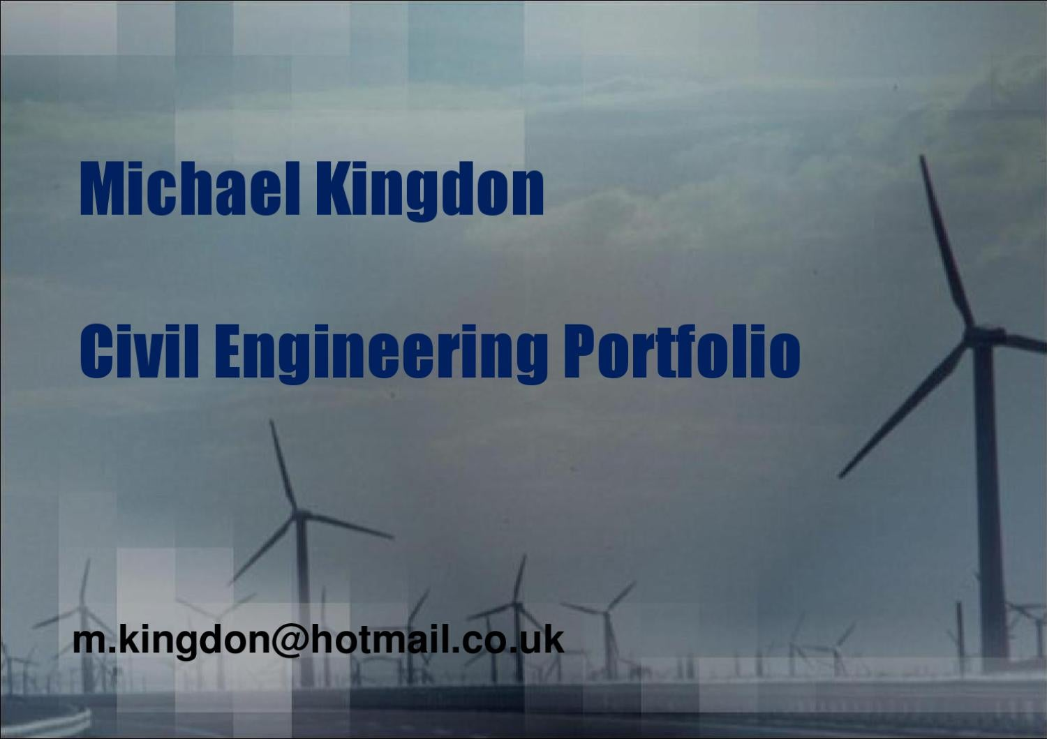 civil engineering portfolio  michael kingdon issuu