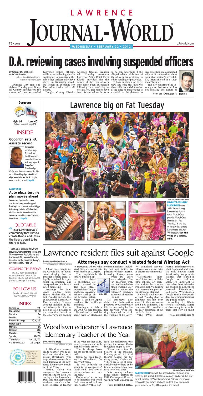 Lawrence Journal World 02 22 12 By Lawrence Journal World
