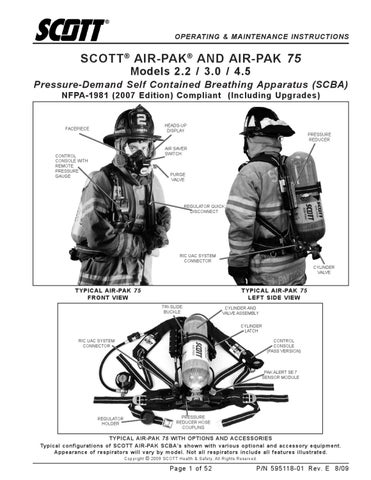 Air Pak 75 scba   user manual on gas control module