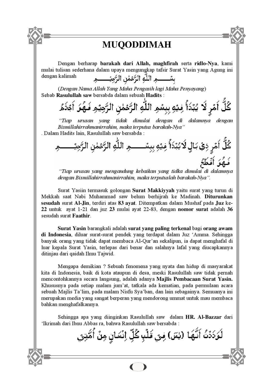 Tafsir Surah Yaasin By Alistiqamah Merchang Issuu