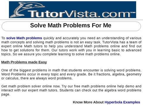 solve a math problem for me