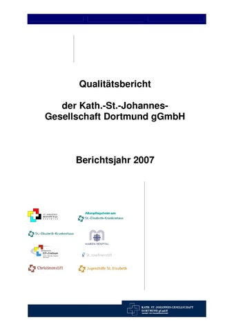 Qualitätsbericht 2007 - Kath. St.-Johannes-Gesellschaft Dortmund by ...