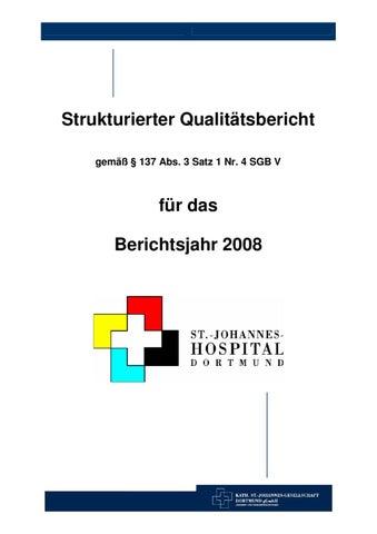 Qualitätsbericht 2008 St Johannes Hospital By Kath St Johannes
