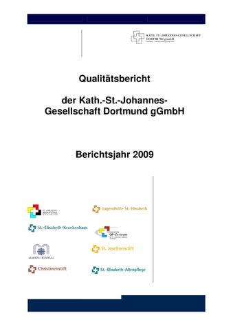 Qualitätsbericht 2009 - Kath. St.-Johannes-Gesellschaft Dortmund by ...