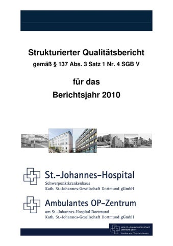 Qualitätsbericht 2010 - St.-Johannes-Hospital by Kath. St.-Johannes ...