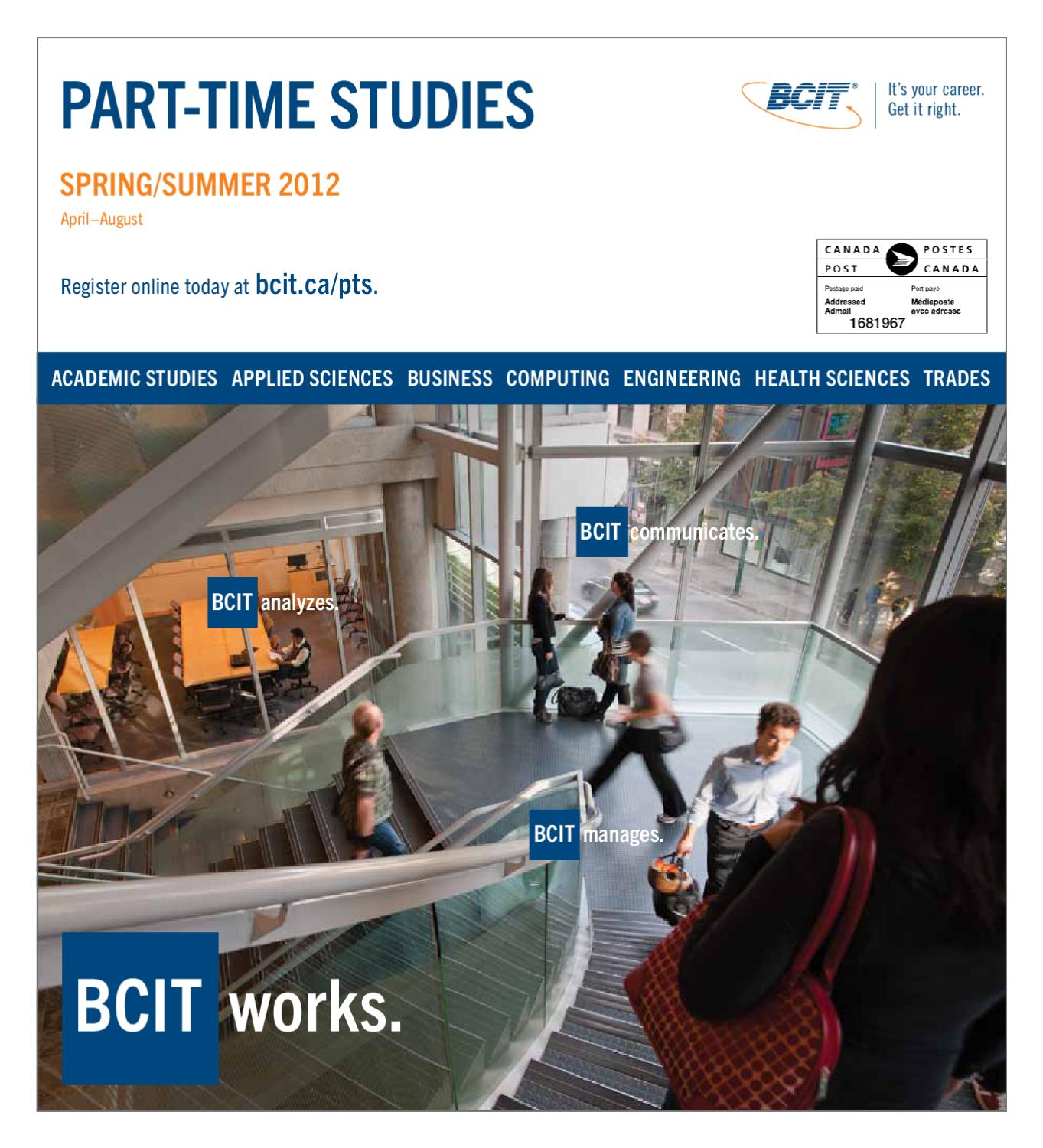 Bcit Part Time Studies Spring Summer 2012 Flyer By Bcit Issuu