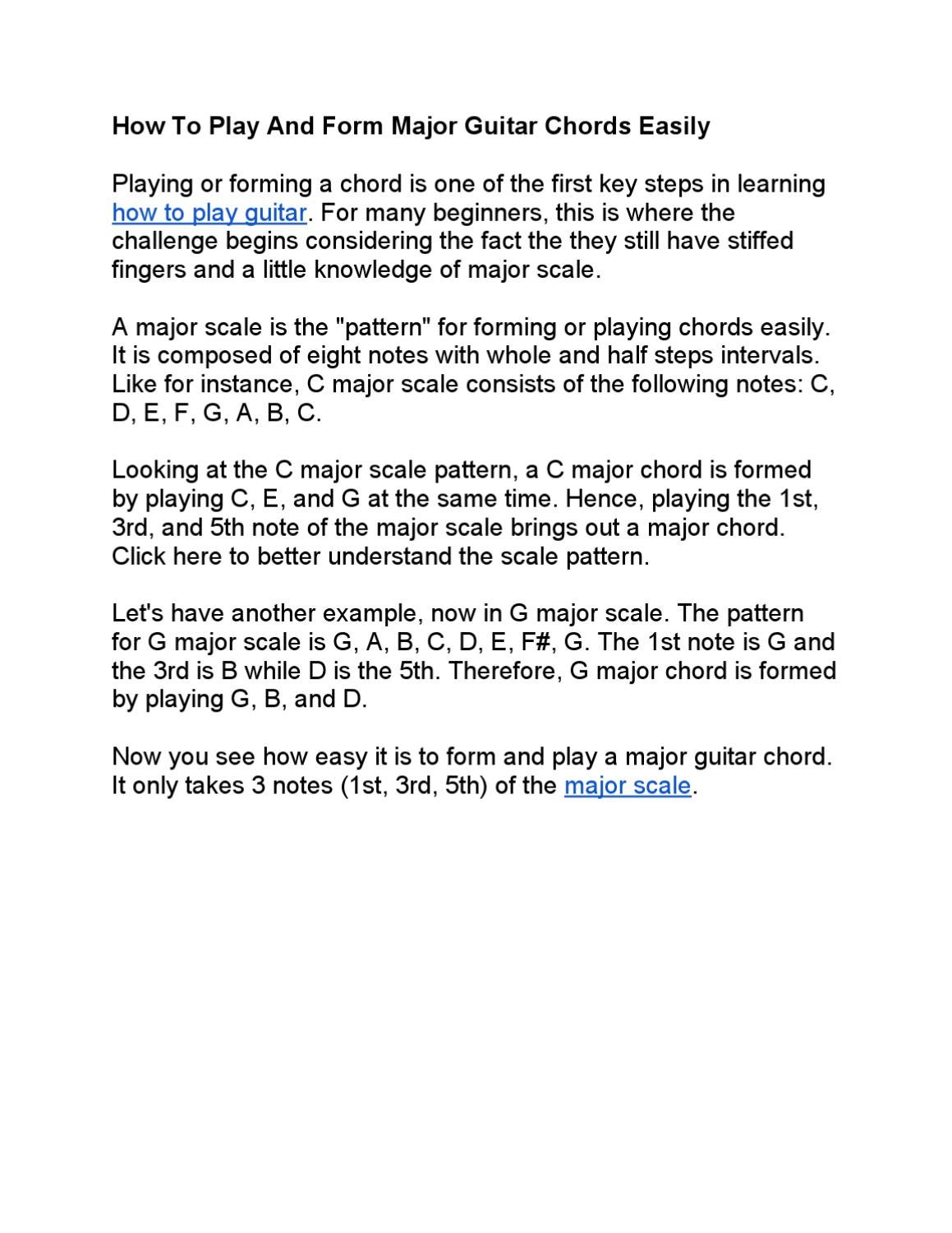 How To Form And Play Guitar Chords By Jim Cyncad Issuu