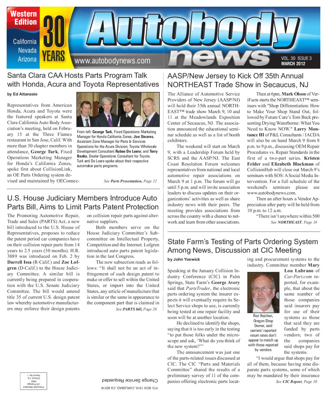 Autobody News March 2012 Western Edition By Autobody News