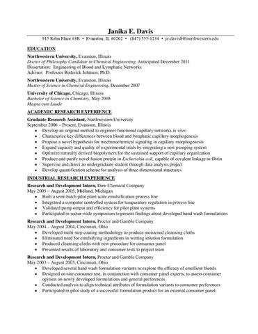 resume samples by northwestern university career services issuu