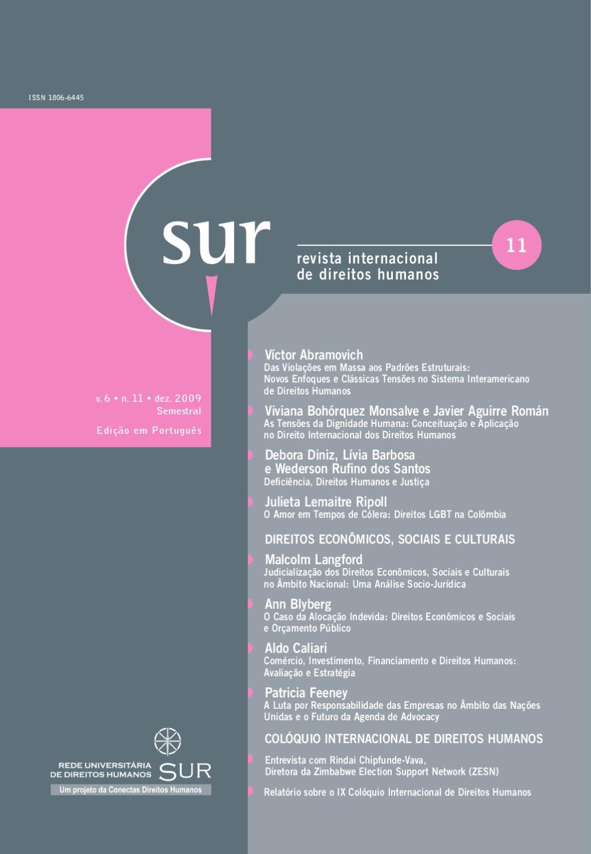 Revista Sur 11 Português by Conectas Direitos Humanos - issuu 22044264b66fe