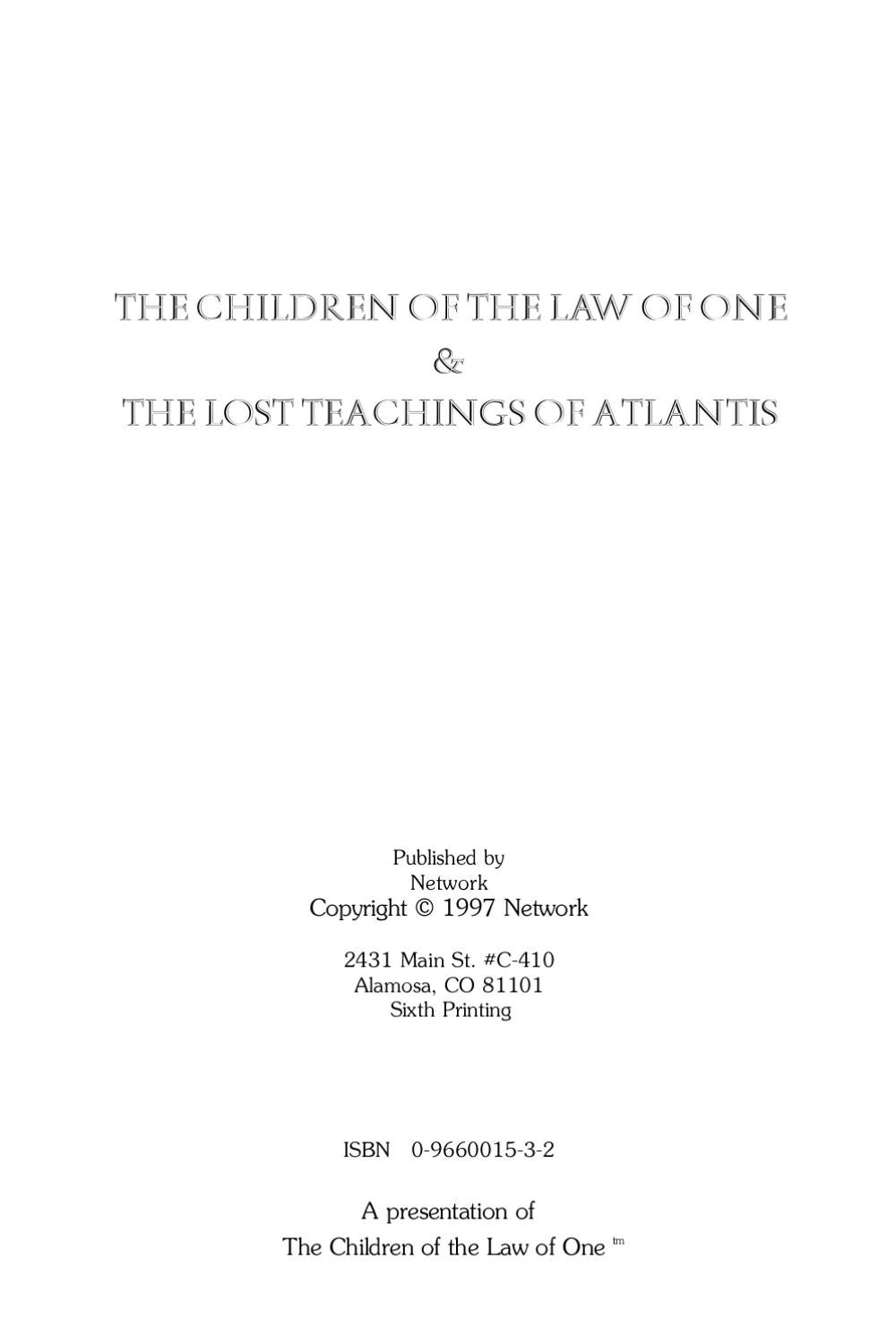 The Children Of Law One By Aly Del
