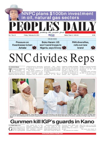 Peoples Daily Newspaper, Friday, February 24, 2012 by Peoples Media