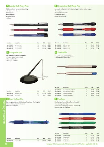 Parker Pen Refill Q connect Black New