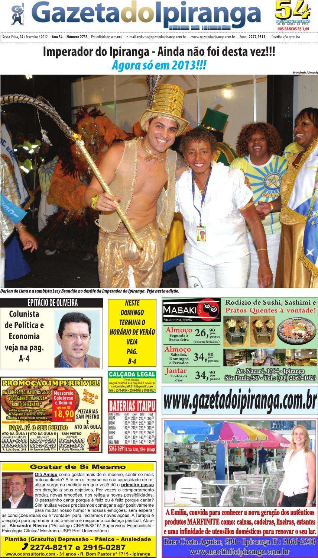 gazeta do ipiranga edição de 24 02 2012 by casé oliveira issuu54837 Depois De Quantos Dias Posso Fazer Exame #12
