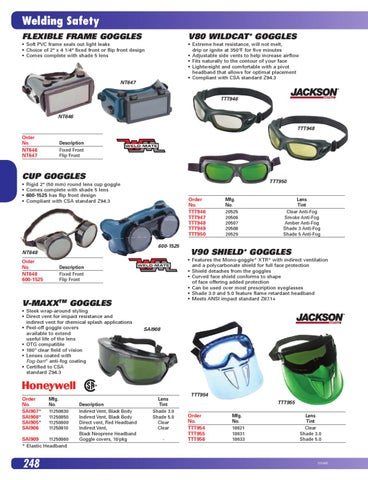 Shade 5 Rigid Frame Welding Goggles Fixed-Front