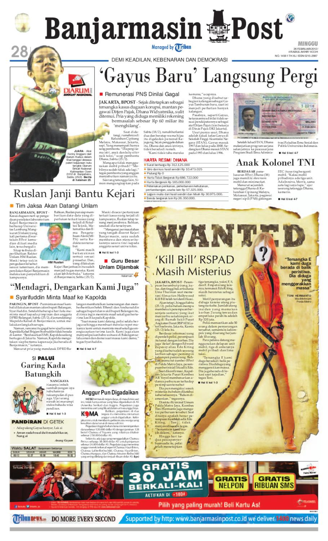 Banjarmasin Post Edisi Minggu 27 Februari 2012 By Banjarmasin Post