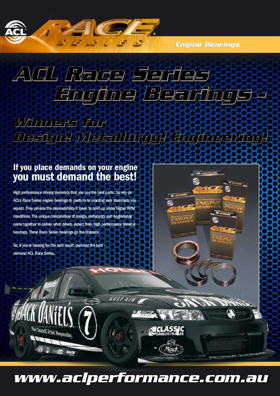 ACL Engine Connecting Rod Bearing Set 8B481H-STD; Race Series STD for LA Mopar