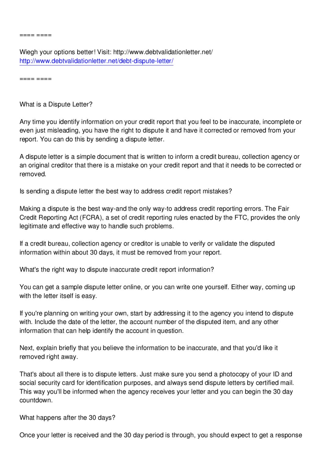 write a debt dispute letter to raise your credit score by stella marie lee issuu