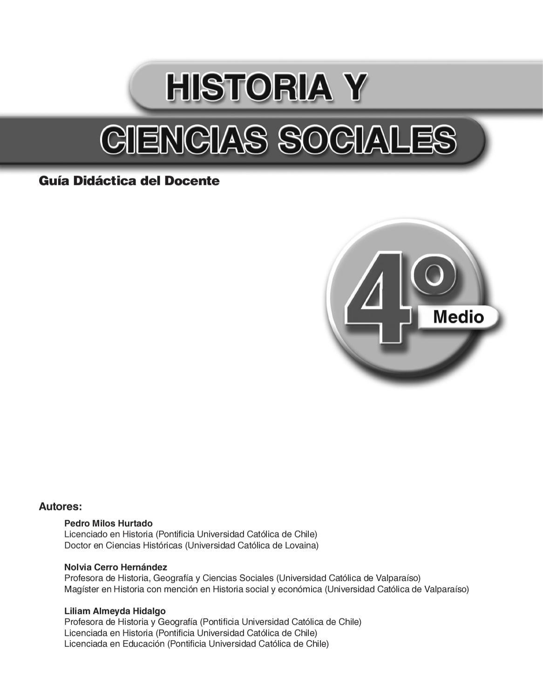 Historia 4º Medio-Guía del docente- Ed. Mare Nostrum by Carlos ...