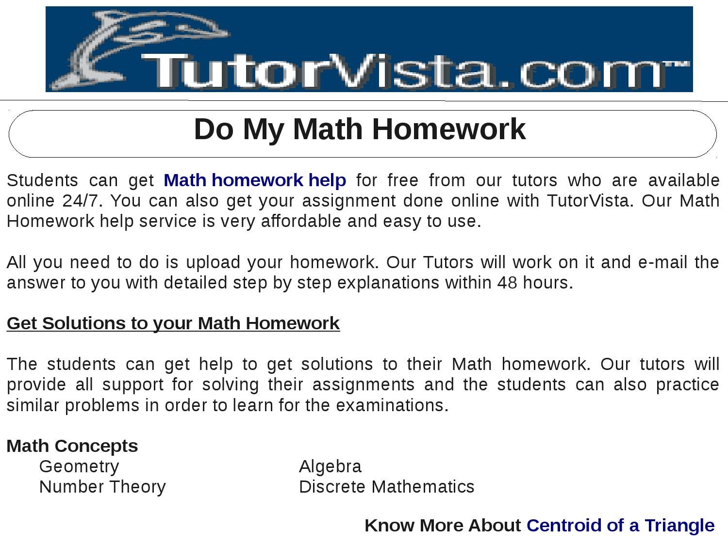I need help with my math homework online
