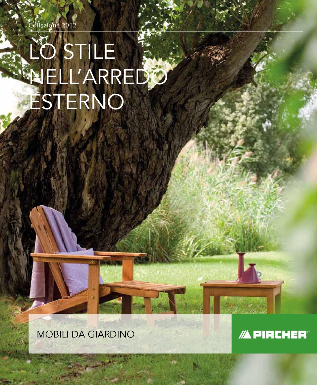 Pircher Tavoli Da Giardino.Mobili Da Giardino 2012 By Pircher Oberland Issuu