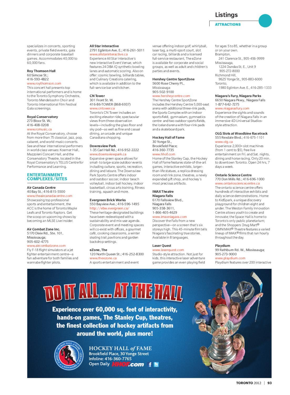 Toronto Guide - Hotel Version by Spafax - issuu