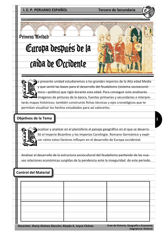 Modulo Escolar Europa Después De Las Invasiones Bárbaras By
