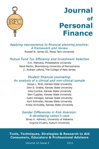 journal of personal finance vol 10 issue 2 by iarfc issuu